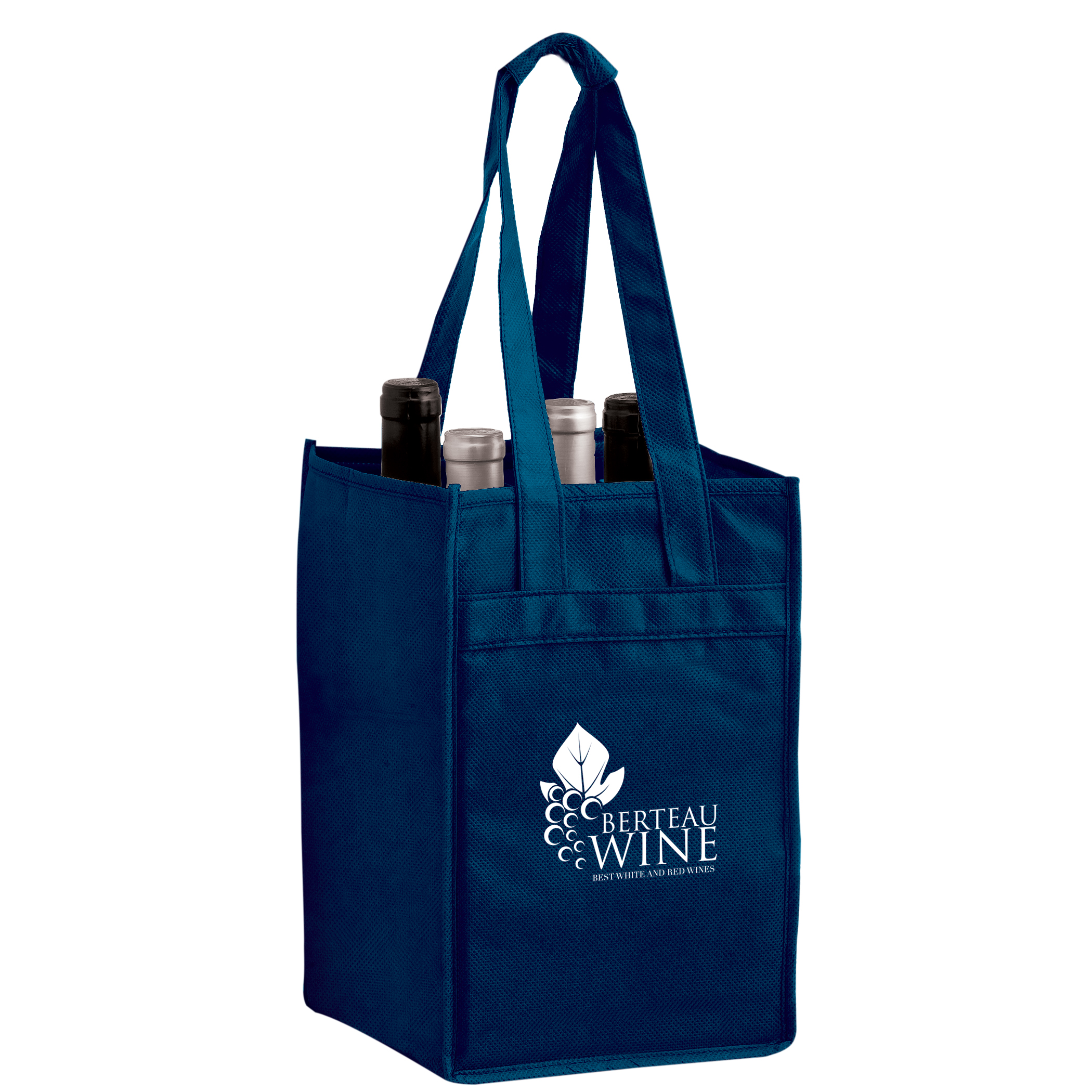 Vine4 Four Bottle Reusable Wine Bags Bulk Recycled Green
