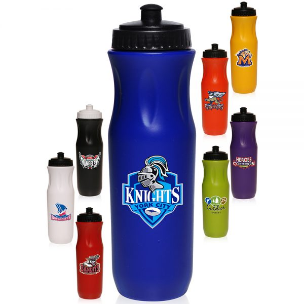 APG142 26 oz Plastic Sports Bottles with Push top