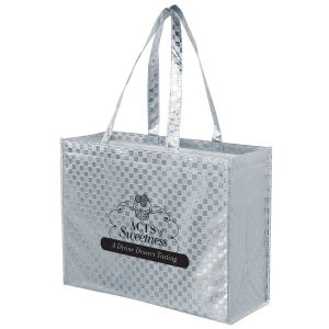 LP16613-Metallic Gloss Designer Tote Bag