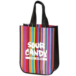 TO7287 Mini Multi-Stripe Recycled Tote