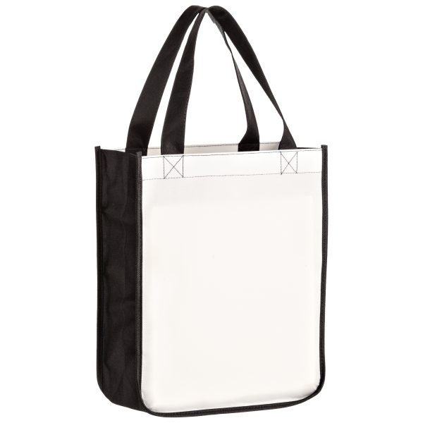 SUB9411 Dye Sublimation PET Non Woven Sublimated Rounded Bottom Tote Bag