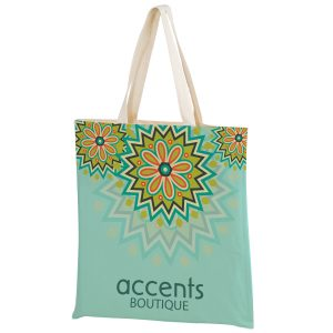 SUBC1516 Dye Sublimation Sublimated Cotton Canvas Tote Bag