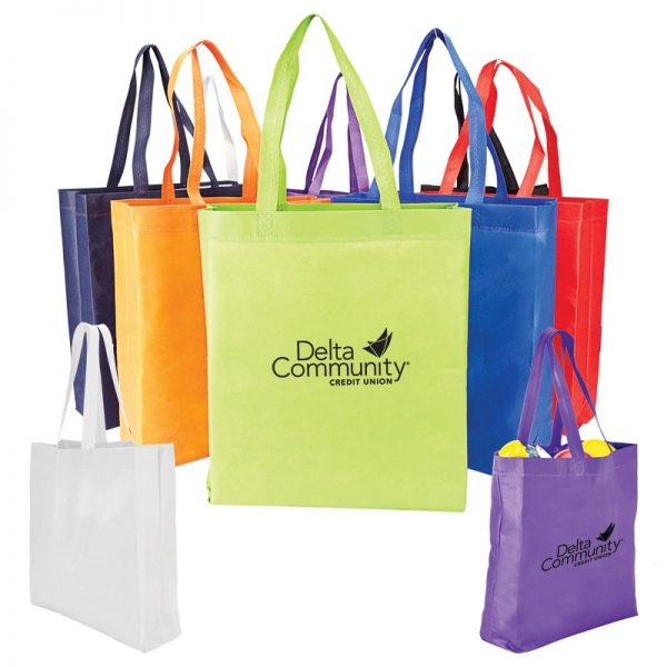 Heat Sealed Non Woven Value Tote With Gusset BG203