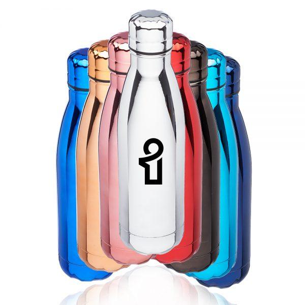 17 oz Metallic Levian Cola Water Bottles ATM301M
