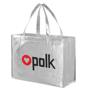 Metallic Gloss Designer Tote Bag With Smooth Finish