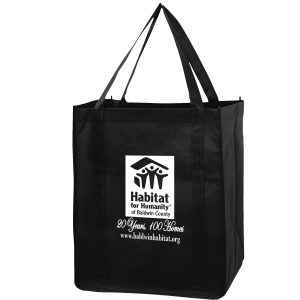 RB131015 Recession Buster Non Woven Grocery Tote Bag