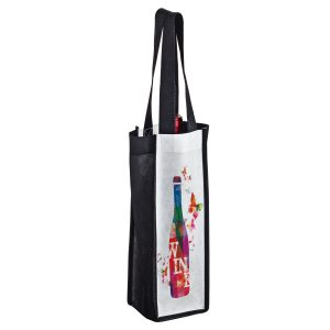 SUBVINE1 Dye Sublimation PET Non Woven Sublimated 1 Bottle Wine Bag
