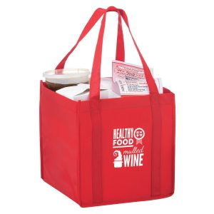 CUBE-Screen Print The Cube - Carry Out Tote Bag With Poly Board Insert